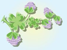Free Background With Clover Stock Images - 18526604