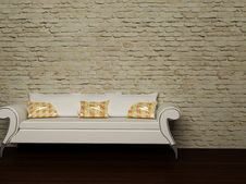 Free A White Sofa With The Pillows Royalty Free Stock Photos - 18526628