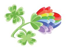Free Rainbow Clover Royalty Free Stock Photo - 18526635