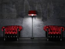 Free Two Armchairs And A Lamp Stock Photo - 18526770