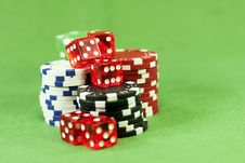 Free Casino Chips Royalty Free Stock Photos - 18526818
