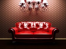 Free A Sofa And A Luster In The Interoir Royalty Free Stock Images - 18526929