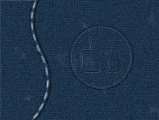 Free Jeans Texture Royalty Free Stock Images - 18527609