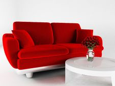 Free Interior Design With A Sofa And A Table Royalty Free Stock Images - 18527789