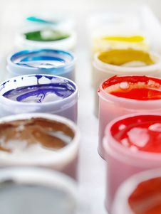 Free Gouache Paints Stock Photography - 18527882
