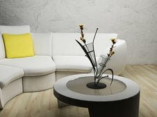 Free A Modern Interior With A Sofa Stock Image - 18527921