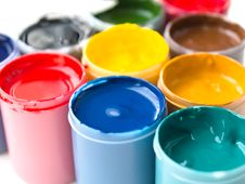 Free Gouache Paints Royalty Free Stock Photo - 18527925