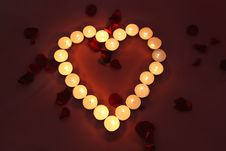 Heart Of Lights Royalty Free Stock Photography