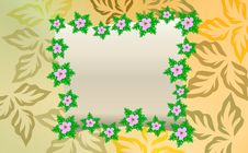 Free Colorful Flower Banner. Royalty Free Stock Images - 18528989