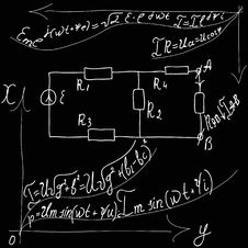Formulas Of Physics. Stock Image