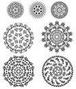 Free Set Of Patterns Round Stock Photography - 18532612