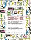 Free Cartoon Arrow Card Royalty Free Stock Photography - 18535067