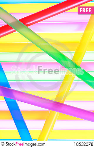 Colorful drinking straws close up background Stock Photo