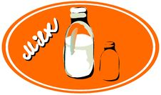 Free Milk Emblem Royalty Free Stock Image - 18530326