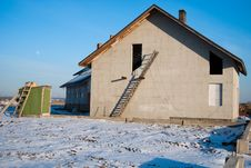 Free Residential House Under Construction Stock Images - 18530474