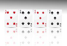 Free Poker Card 4 Five Stock Photos - 18530593