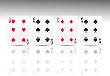 Free Poker Card 4 Six Royalty Free Stock Photography - 18530607