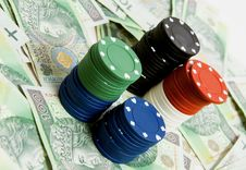 Free Gambling Money Royalty Free Stock Photography - 18530687