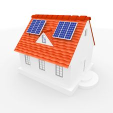 Free Solar Energy Panels On Roof. Stock Photography - 18532192