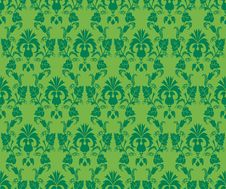 Free Green Floral Pattern Royalty Free Stock Images - 18532539
