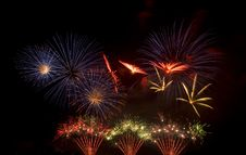 Free Colorful Firework Display Royalty Free Stock Image - 18532856