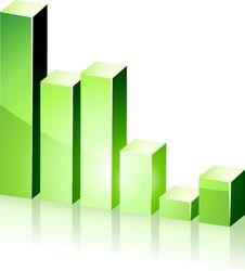 Free 3d Green Diagram. Stock Photo - 18533680