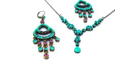 Free Necklace And Earrings Royalty Free Stock Photos - 18534078