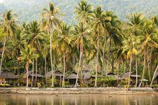 Thai Bungalow Resort Stock Images