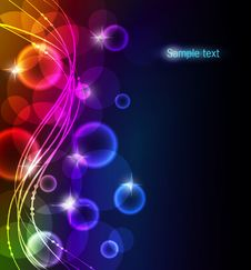 Free Abstract Color Glowing Background Royalty Free Stock Image - 18534806