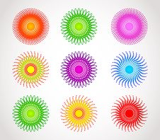 Set Of Abstract Color Sphere Stock Image