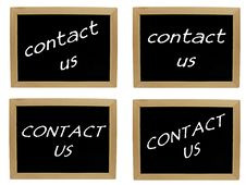 Free Contact Us On Blackboard Royalty Free Stock Photo - 18535015