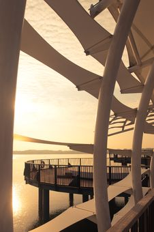 Free Sunrise At Jetty Royalty Free Stock Photo - 18535205