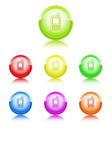 Free Mobile Color Icon Stock Images - 18535434
