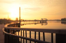 Free Miniature Like Sunrise Behind A Pier Royalty Free Stock Photo - 18535485