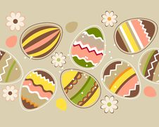 Free Seamless Horizontal Easter Pattern With Eggs Royalty Free Stock Photography - 18535817