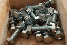 Free Bolts In The Box Royalty Free Stock Image - 18536236