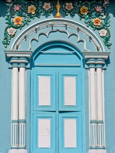 Blue Window Stock Photography