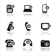 Free Technology With Locks Icons Royalty Free Stock Image - 18537926