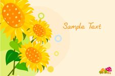Free Sunflower Background Royalty Free Stock Photo - 18538525
