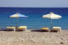 Free Beach Umbrellas Stock Photo - 18539720