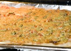 Home Pizza Stock Photo