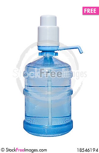 A large bottle, 19 liters Stock Photo