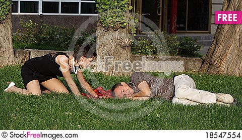 Rest on a grass Stock Photo