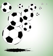 Free The Vector Abstract Soccer Background Stock Photography - 18540552