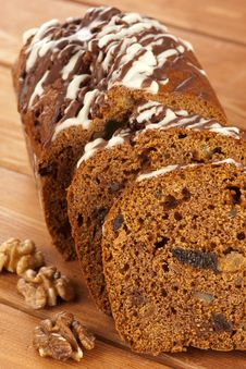 Free Dark Cocoa Fruitcake Stock Photo - 18540830