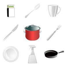 Free Set Of Kitchen Utensils Stock Photography - 18541182