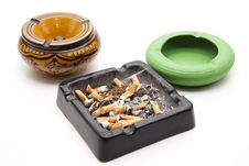 Free Ashtray With Cigarettes Stock Photo - 18542420