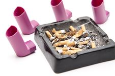 Free Ashtray With Inhaler Royalty Free Stock Image - 18542456