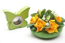 Free Flowers With Butterfly Of Wood Royalty Free Stock Photos - 18542538