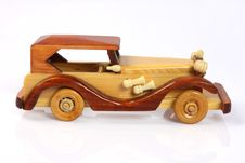 Handmade Wooden Toy Car Royalty Free Stock Photo